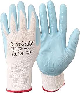 Ruvigrab Guante soporte nylon, recubrimiento nitrilo