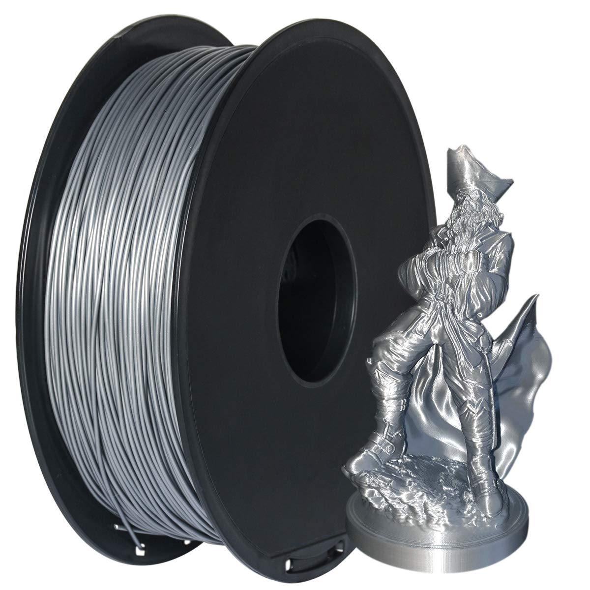 GIANTARM Filament PLA 1.75mm Imprimante 3D PLA Filament 1.75mm 1kg Bobine Noir /¡/­