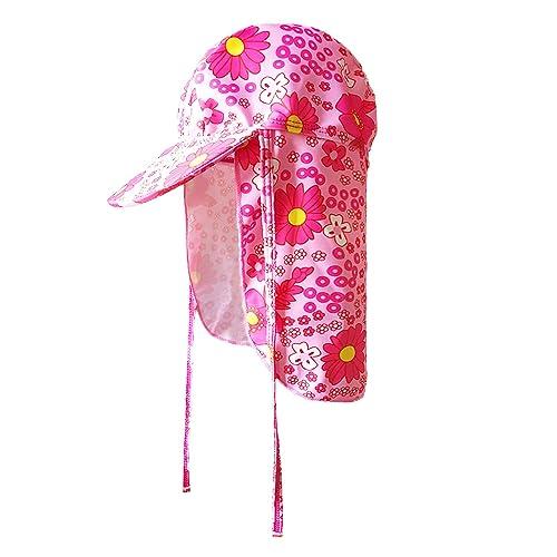 GAOU Baby Kids Legionnaire Swim Hat Beach Hat UV Sun Protection Stretch Sun  Hat Flap Cap 590e5fba2758