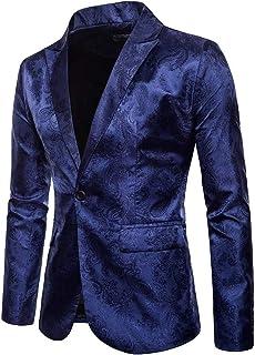 HX fashion Men's V Neck Fit Blazer Camouflage Slim Men's Suit Comfortable Sizes Business Button Suits Stylish Wedding Prom...