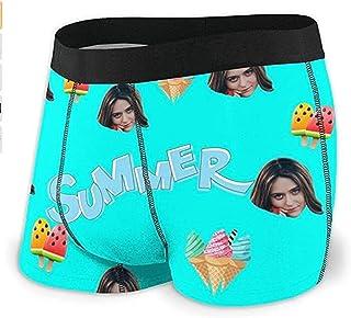 Custom Men's Boxer Briefs Funny Faces Novelty Underwear Men's Panties Photos
