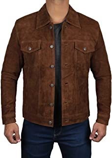 Suede Jacket Men - Real Suede Mens Leather Jacket