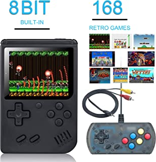 weikin Handheld Game Console, 168 Classic Games 3 Inch LCD Screen Portable Retro Video..