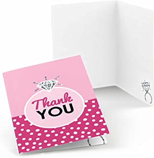 Big Dot of Happiness Bride-to-Be - Bridal Shower & Classy Bachelorette Party Thank You Cards (8 Count)