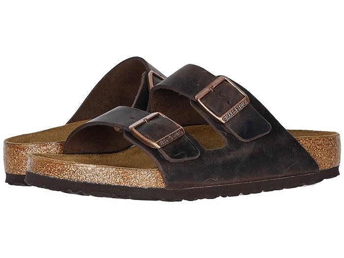 Birkenstock  Arizona - Oiled Leather (Unisex) (Habana Oiled Leather) Sandals