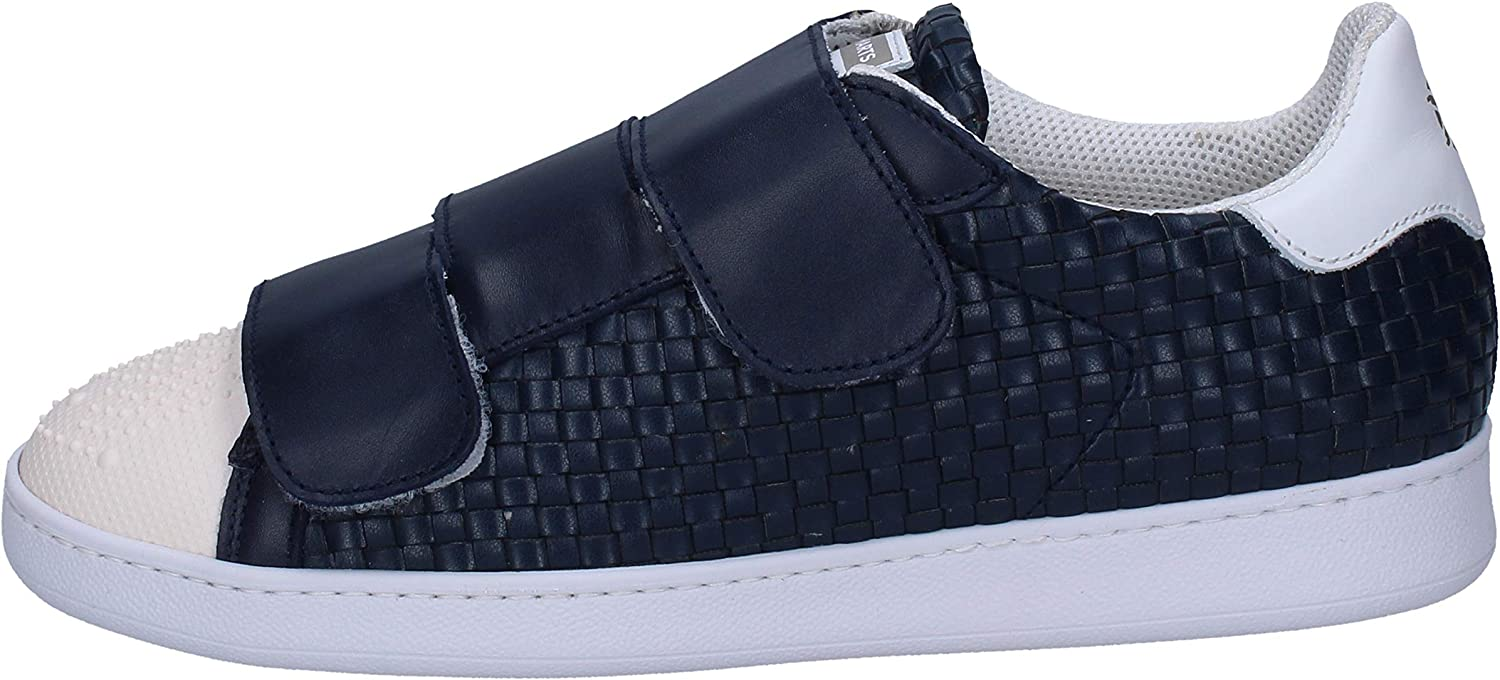 BRIMARTS Fashion-Sneakers Mens Leather bluee