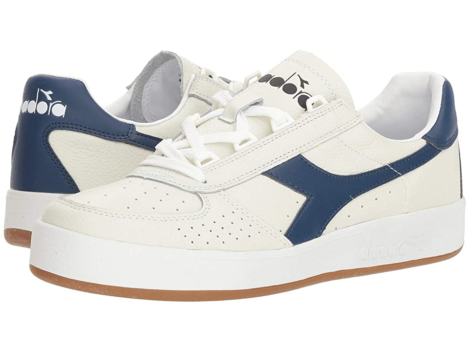 Diadora B.Elite L (White/Saltire Navy (C2816)) Athletic Shoes