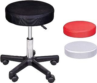 Sgabello girevole a 360/° Kaibrite con ruote altezza regolabile da 44 a 57 cm colore: Bianco