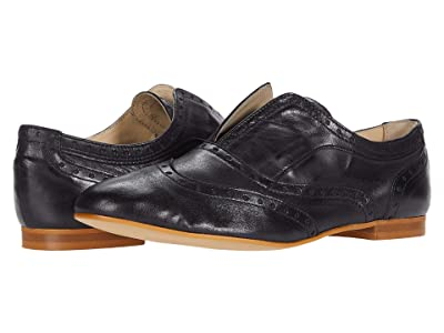 Massimo Matteo Laceless Oxford Wing Tip (Black) Women
