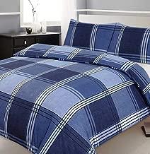 Velosso Single Bed Duvet/Quilt Cover Bedding Set Checkered Blue Bedding Hamilton Check