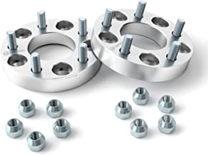 2pcs 1.25 inch Wheel Adapters Spacers Converts 5x4.75 to 5x5 (Changes Bolt Pattern) 12x1.5 Studs Fits Chevy 1982-2003 Camaro, 1984-2013 Corvette, S10 GMC Jimmy S15 Pontiac Firebird GTO - Silver
