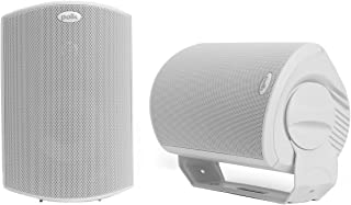 Polk Audio Atrium 6 Outdoor All-Weather Speakers with Bass Reflex Enclosure (Pair, White) | Broad Sound Coverage | Speed-L...