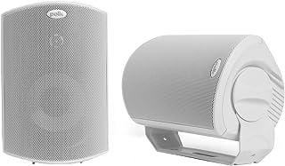 Polk Audio Atrium 6 Outdoor Speakers White with Bass Reflex Enclosure | All-Weather Durability | Broad Sound Coverage | Sp...