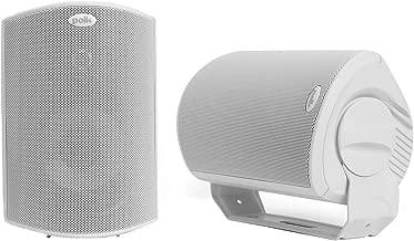 Polk Audio Atrium 6 Outdoor All-Weather Speakers with Bass Reflex Enclosure (Pair, White)..