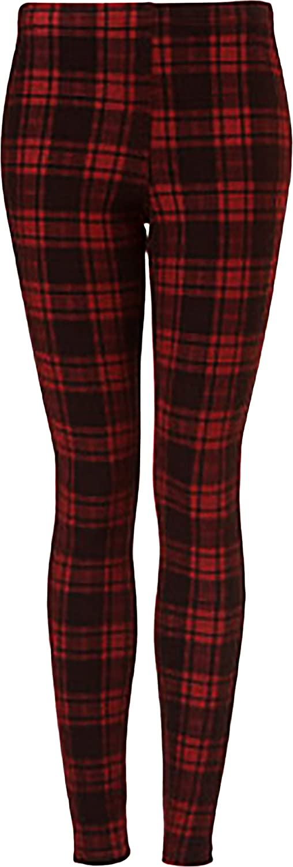 Hue Women's Plaid Jeans Leggings Black XSmall (02)