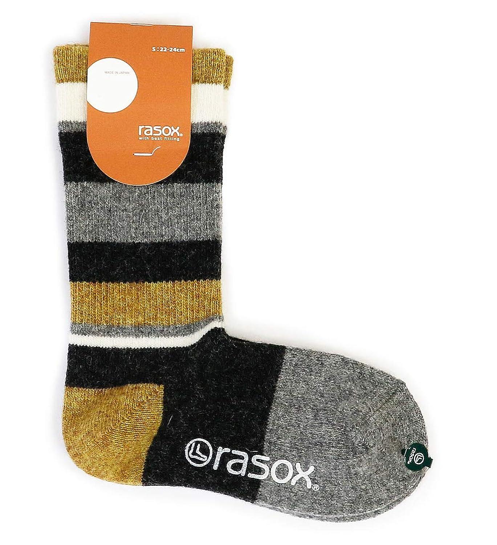 (ラソックス) rasox 靴下 ソックス ウール ボーダーソックス レディース メンズ CA152CR03
