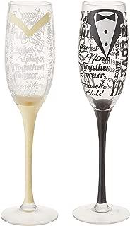 Wedding 2 Piece Champagne Flute Glass Set