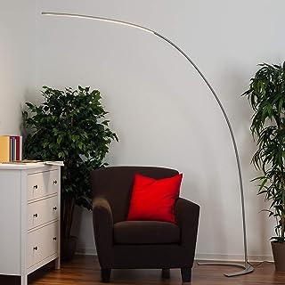 LED Lámpara de pie 'Danua' (Moderno) en Gris hecho de Metal e.o. para Salón & Comedor (1 llama, A+) de LINDBY | lámpara de pie LED