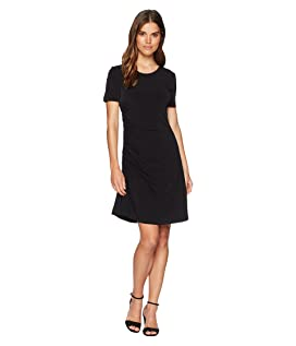 Nan Short Sleeve Side Ruched Tee Dress