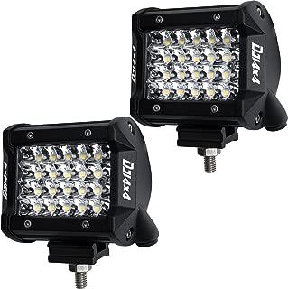 LED Pods, DJI 4X4 2Pcs 4'' 144W LED Light Bar Quad Row OSRAM Spot Beam LED Cubes Work Light Off road Driving Fog Lamps for Trucks Jeep ATV UTV SUV Boat Marine, 2 Years Warranty