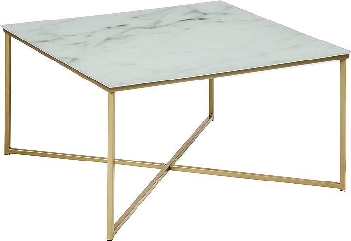 tavolo da caffè - Amazon brand - movian rom -, 80 x 80 x 45 cm, bianco actona 0000083617