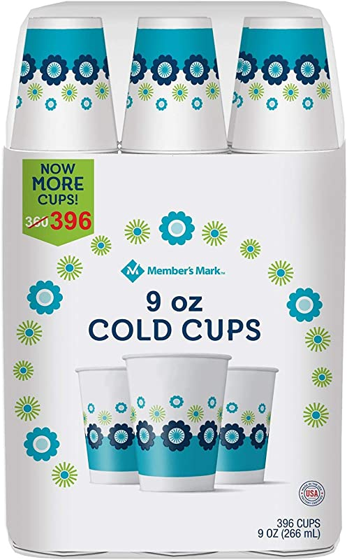Member S Mark Paper Cold Cups 9 Ounce 396 Count