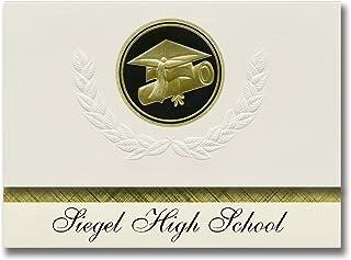 Annonces Signature Siegel High School (Murfreesboro, TN) Annonces de diplôme, style présidentiel, Paquet de base de 25 Sce...