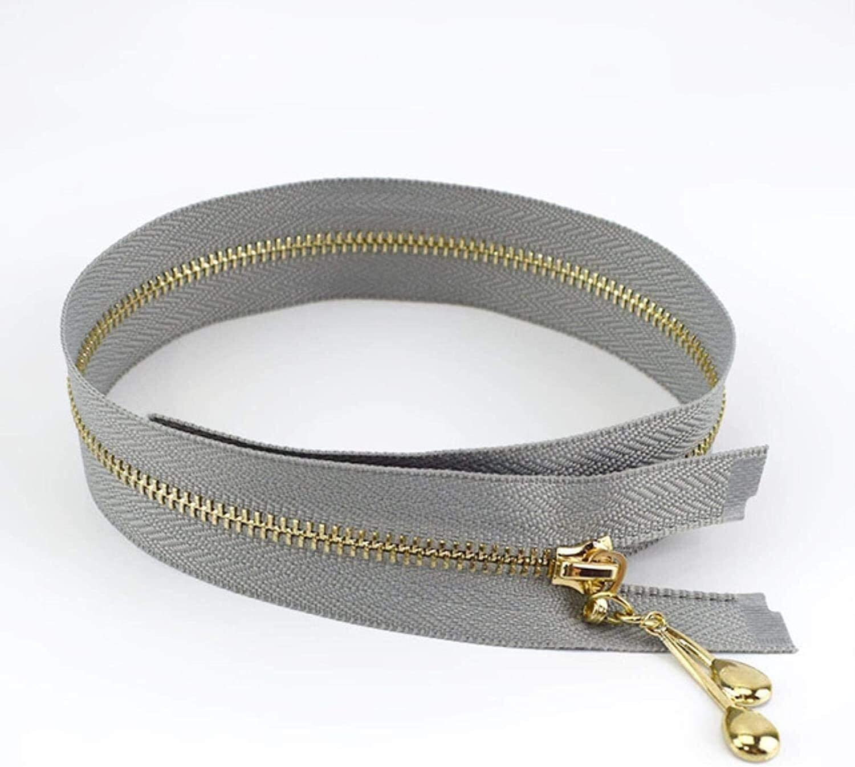 Lieber Lighting Decorative Zipper Metal Zipper Auto Lock Zip for
