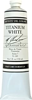 M. Graham Artist Oil Paint Titanium White Rapid Dry 5oz Tube