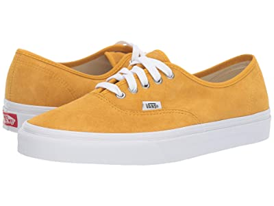 Vans Authentictm ((Pig Suede) Mango Mojito/True White) Skate Shoes