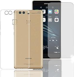 Eximmobile silikon Case + pansarfilm kompatibel med Huawei Nova Plus mobilskal med glasfolie skyddsskal med glasskyddsfoli...