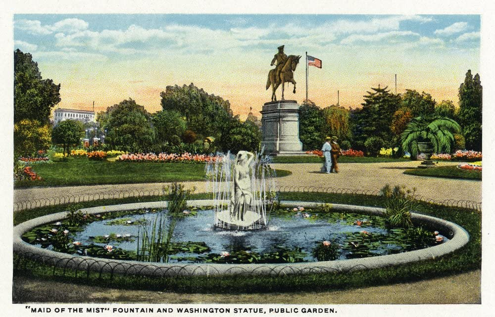 Boston MA - Maid of the Statue Mist Complete Free Shipping Washington Fountain Publi Popular standard