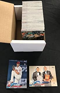 2018 Topps Series Two Baseball Complete Hand Collated Set of 350 Cards - Includes Shohei Ohtani and Scott Kingery's First Topps Rookie Card. Set has two of card #365 and two card #564 due to a production error from Topps. Overall condition is NM-MT