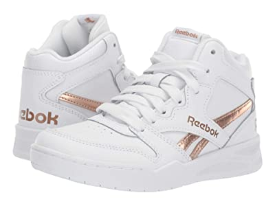 Reebok Kids BB4500 HI Court (Little Kid/Big Kid) (White/Rose Gold) Kids Shoes