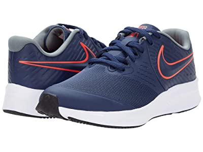 Nike Kids Star Runner 2 (Big Kid) (Midnight Navy/Bright Crimson/Smoke Grey) Kids Shoes