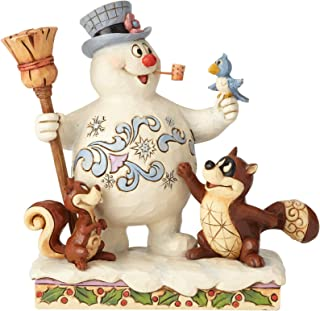 Department56 Enesco Snowman by Jim Shore Frosty and Woodland Friends, Multicolor
