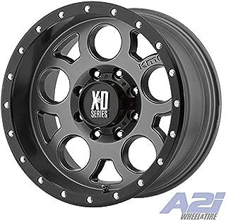 XD Series by KMC Wheels XD126 Enduro Pro Matte Gray Wheel with Black Ring (18x9