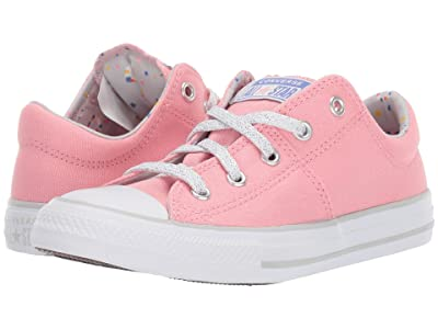 Converse Kids Chuck Taylor(r) All Star(r) Madison Llama Ox (Little Kid/Big Kid) (Coastal Pink/Mouse/White) Girls Shoes