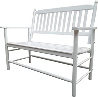 Rockingrocker - A059WT White Outdoor Wood Garden Bench - Suitable for Indoor or Outdoor - Assembled Dimensions:W49.21 x H4...