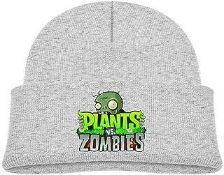 ROBETT Plants Vs Zombies Unisex Kids Knitted Warm Winter Beanie Hat Cuffed Skull Cap,0-3 Years