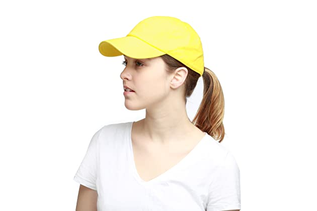 THE HAT DEPOT Unisex Blank Washed Low Profile Cotton and Denim Baseball Cap  Hat 55982710ad0