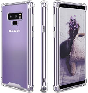 Samsung Galaxy Note 9 Case,Clear Note 9 Case Shockproof TPU Bumper Cases Non Slip Scratch Resistant PC Hard Back Protectiv...