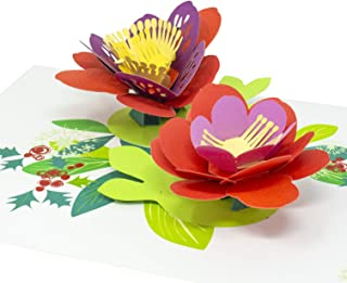 Paper Love Lotus Flower Pop Up Card, 3D Popup Greeting Cards, For Christmas, Holidays, Any Occasion