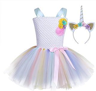29e090685 Freebily Vestido de Princesa Fiesta Carnaval Niñas Disfraz Infantil de  Cosplay Actuación Vestido Niñas con Diadema