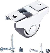 (Pak van 200 stuks) Kleine bokwielen 25 mm Zwaar uitgevoerde zwenkwielen Niet-zwenkwiel Rubberen zwenkwielen voor meubels ...