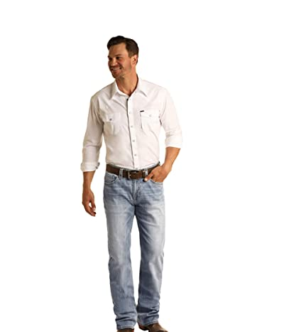 Rock and Roll Cowboy Reflex Double Barrel Relax Fit Straight in Light Wash M0S5801 (Light Wash) Men