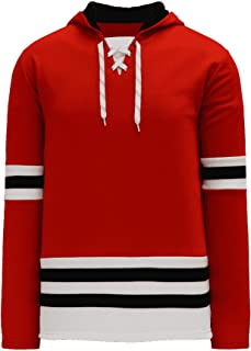 Chicago Skate Lace Athletic Pro Hockey Jersey Hoodie - Red
