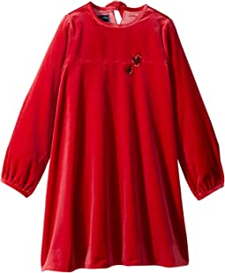 Embroidered Heart Dress (Little Kids/Big Kids)