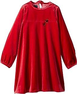 Embroidered Heart Dress (Little Kids/Big Kids)