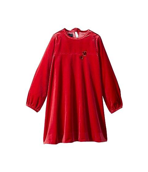 Oscar de la Renta Childrenswear Embroidered Heart Dress (Little Kids/Big Kids)